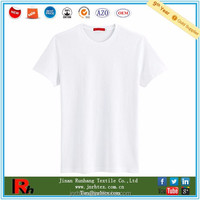 Custom Plain White 50 Cotton 50 Polyester T Shirts