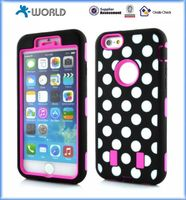 PC silicon with laser printing dot case for iphone 6 / 6S