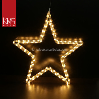 4M LED ROPE LIGHT STAR MOTIF, WHITE COLOR, CONNECTABLE