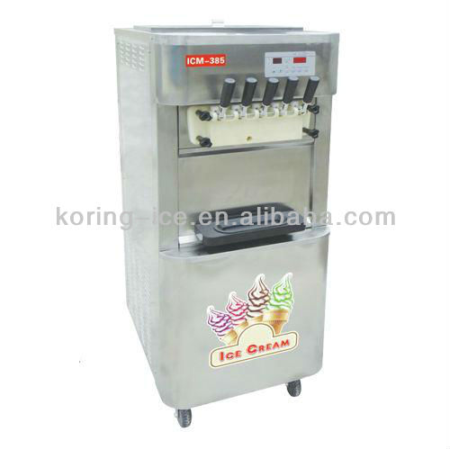 5 flavor rainbow soft serve ice cream with 5 vending machine parts toping malaysia