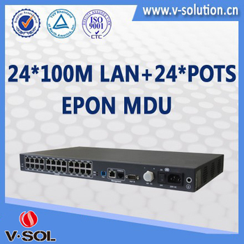 24FE+24POTS Fiber Optical Networking EPON MDU