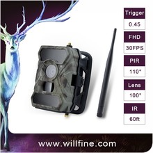 Outdoor waterproof mms cellphone app sms remote control night vision 3g wireless infrared thermal digital trail cameras