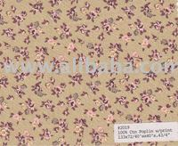 100% Cotton Poplin with Floral Print