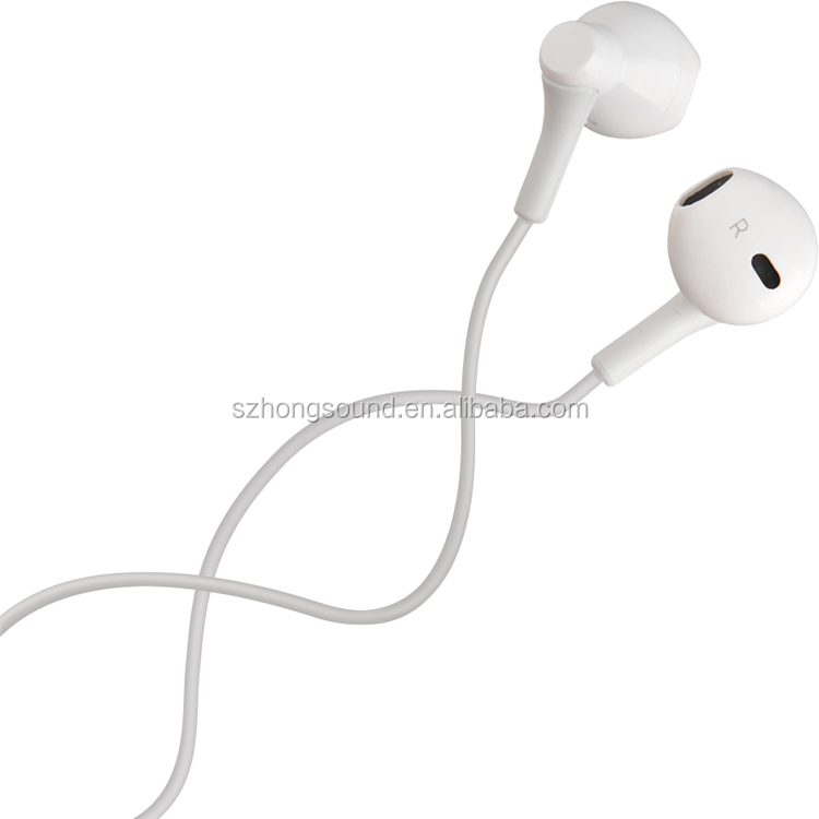 Hongsound cheap earphone customized logo promotion earphone & earbud for iPhone Samsung free <strong>sample</strong>