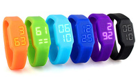 cheapest silicone usb led watch flash drive wholesale 2gb 4gb 8gb