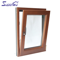 China supplier high quality safety glass aluminum clad wood window