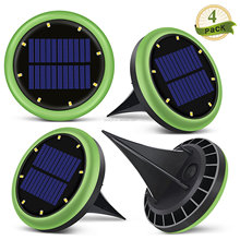 Outdoor Light Solar Buried Ground Lawn Lamp 8 LED Waterproof Garden Decoration Solar Lawn Light