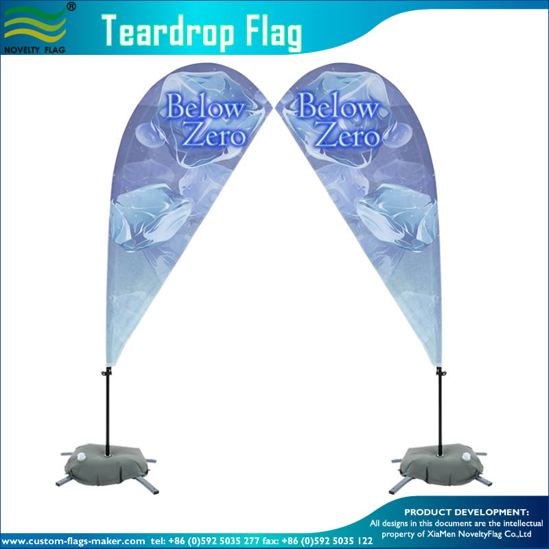 Two Sided Outdoor Advertising Teardrop Flying Banner