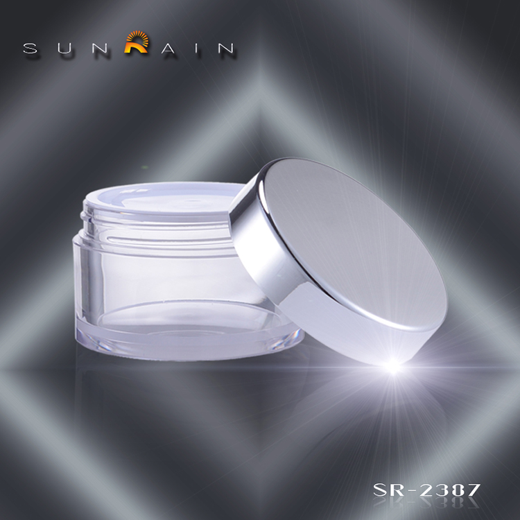 Aluminum cosmeic sample packaging cream jar