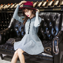 C70875A cotton design comfortable and soft lace up dress
