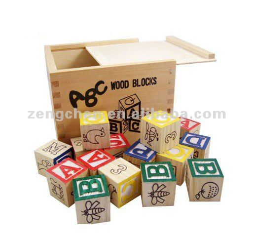 Wooden Toys & abc blocks - learn the alphabet