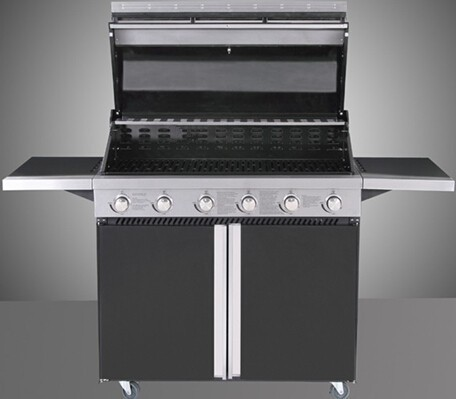 6 burner powder painting united professional grill with side burners with CE