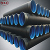 Eco-friendly DWC HDPE plastic pipes in sewage and drainage systems