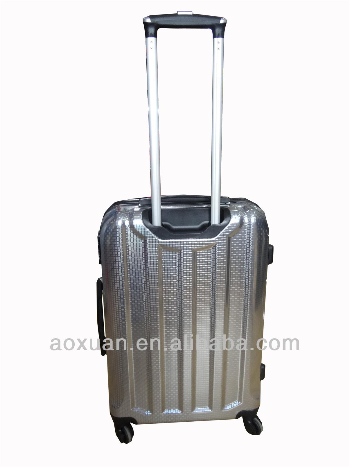 abs pc film trolley luggage case or ABS+PC aluminum film travel bag
