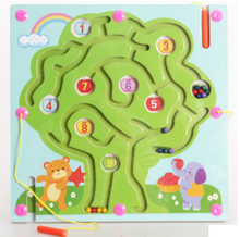Magnetic wood maze desktop fruit tree puzzle game