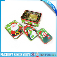 High Quality Chinese Factory Christmas tin can for series