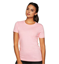 Ladies Bamboo Cotton Spandex 160gsm Women wholesale blank t-shirts