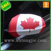 Flag car mirror cover