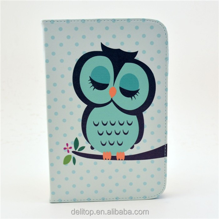 High Quality Painting Pattern Flip Stand Leather Case Folio Smart Cover For Samsung Galaxy Note 8.0
