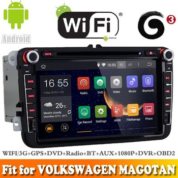 Pure android 4.4.4 system car dvd gps navigation fit for VOLKSWAGEN MAGOTAN 2006-2012 WITH CHIPSET WIFI 3G INTERNET DVR SUPPORT