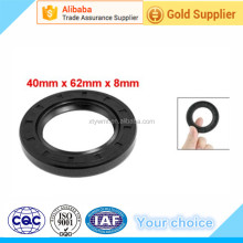 Metric 40mm x 62mm x 8mm TC Double Lip Oil Shaft Seal Black