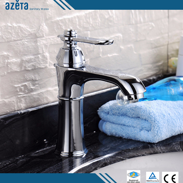 Fancy Artistic Hot Cold Water Tap Brass Bathroom Basin Sink Faucet