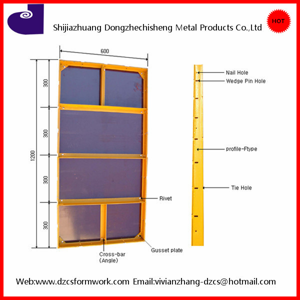 Korean type euro formwork light weight concrete wall forming systems
