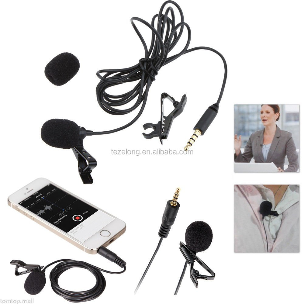 BY-LM10 Wired Lavalier Condenser Microphone IOS Andriod Smartphone Mic 1.2m Cable 3.5mm Microphone