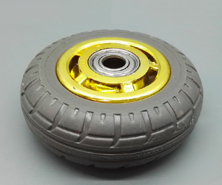 High quality total lock 4 inch gray top-plate rubber caster wheel with brake