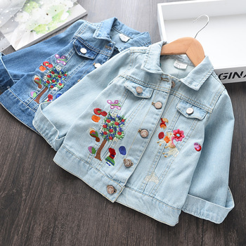 New Spring Autumn Children Clothing Child Clothes Baby Girl Outerwear Coat Jackets Kids Tops Jeans Wear Denim