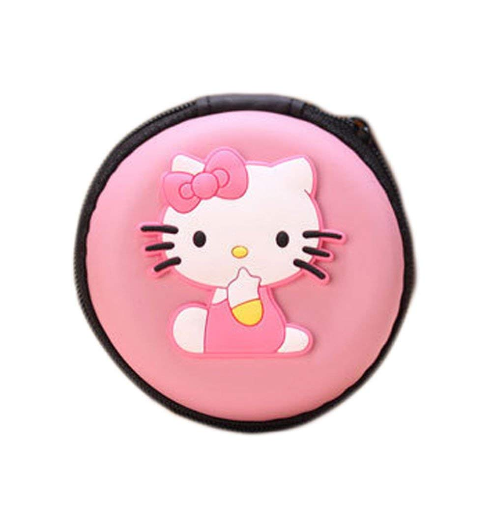 GC Cartoon Silicone Round Purses Wallet Change Coin Case