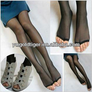 Ultra- thin Wild Open Fashion Model Promotion Winter Art Tights Lift The Hips Footless Silk Feeling Stap Up Women Pantyhose