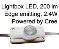 injection led module with lens