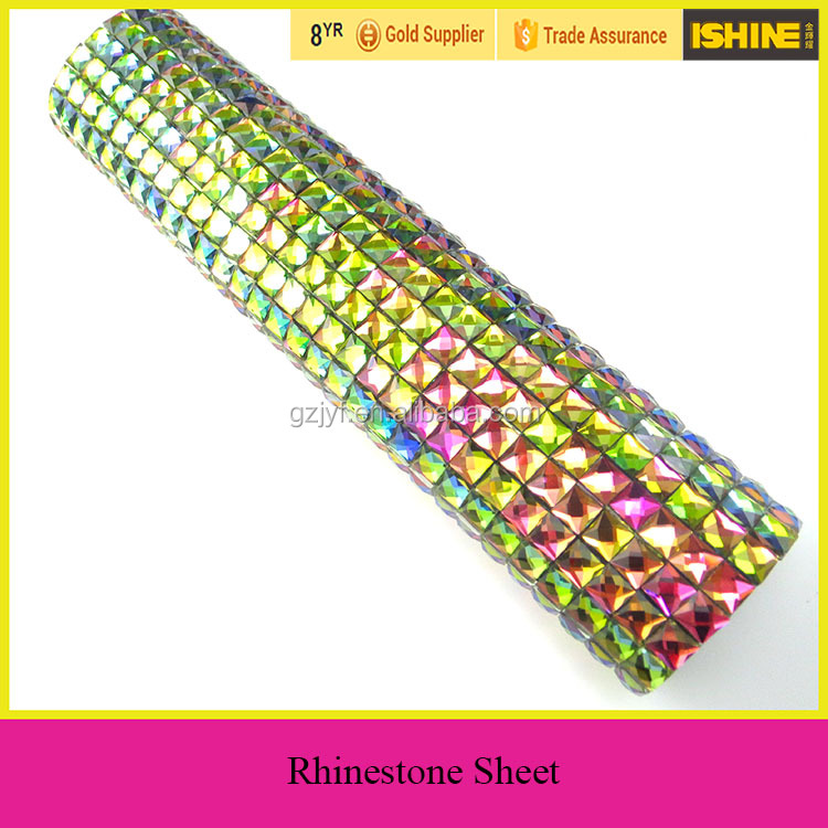 Colorful Crystal Plastic Rhinestone Sheet for decoration