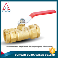 Brass body and color with a long handle long stem ball valve