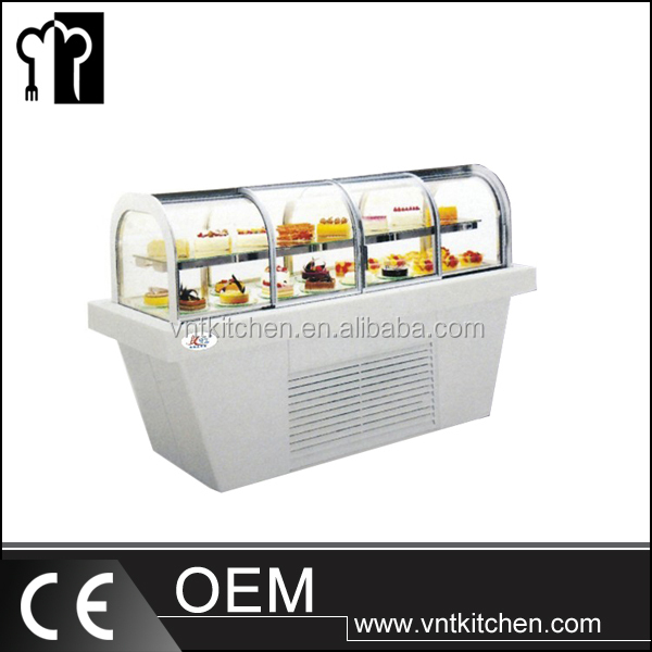Curved Glass Two Layers Refrigerated Deli Case