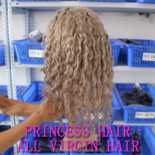 Hot Hair Product 100% Virgin Human Hair High Quality Fast Delivery Cheap Malaysian Grey Deep Curly Full Lace Wigs
