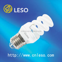 LESO energy saving lamp/ESL/ CFL /spiral lamp 9mm 12mm Full spiral