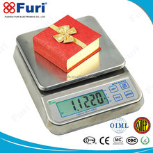 Furi stainless steel kitchen weighing scale with parts counting function