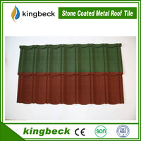 classic stone coated zinc roof sheet price/color corrugated roof tile colorful stone roof tiles