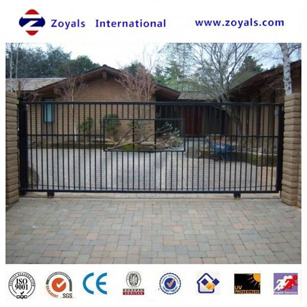 Quality Outdoor Remote Retractable Stainless Steel Electric Sliding Gates with CE certificate