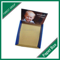RECYCABLE CUSTOMIZED CORRUGATED PAPER DISPLAY BOX SMALL DISPLAY STAND FOR MARKET