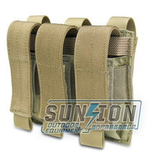 High strength Triple Pistol Magazine Pouch with molle system with multi-function