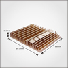 High Power golden anodized Heatsink Aluminum Extrusions