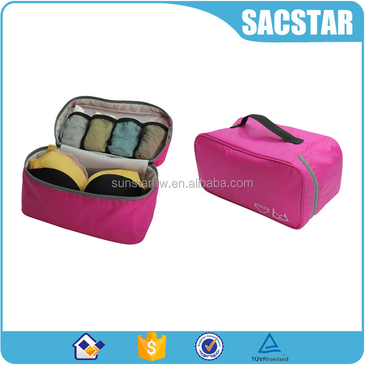 hot sale storage use travel bra and panties bag organizer for girls