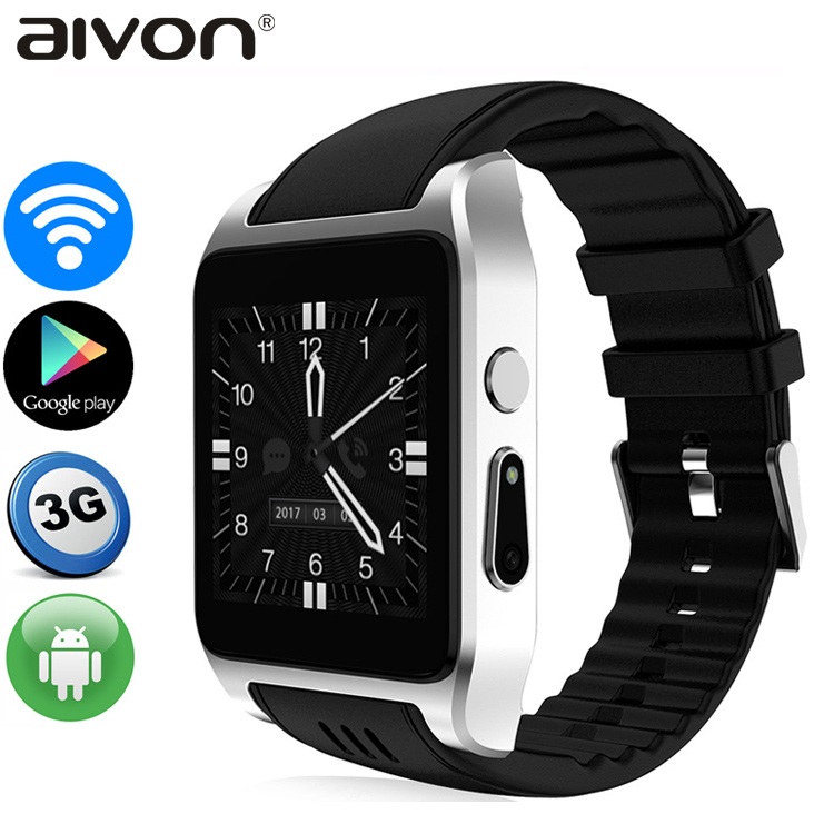 3G WiFi Smart Watch X86 Android Watch Phone MTK6572 Dual Core Wifi GPS 2.0MP Camera Bluetooth