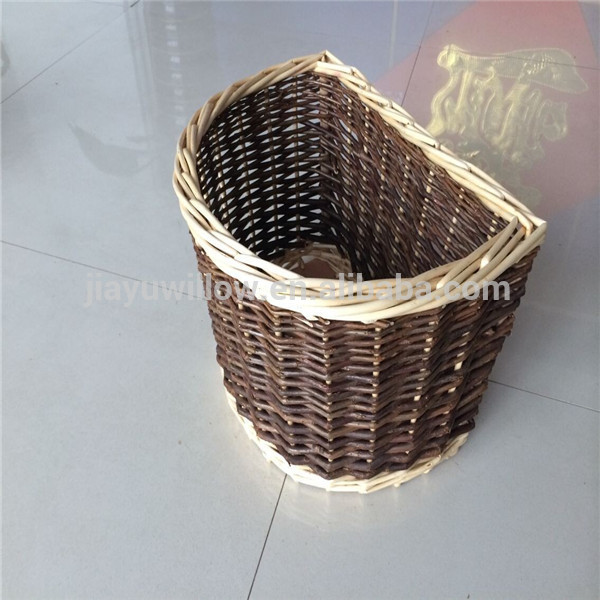 Dog,pet,rabbit natural wicker bicycle front basket