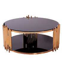 modern black glass coffee table center round coffee table
