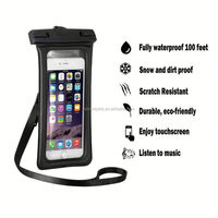 E063 cheap pvc phone waterproof case/cell phone waterproof case/floating waterproof phone bag