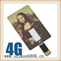 Fashionable useful postcard usb flash drive